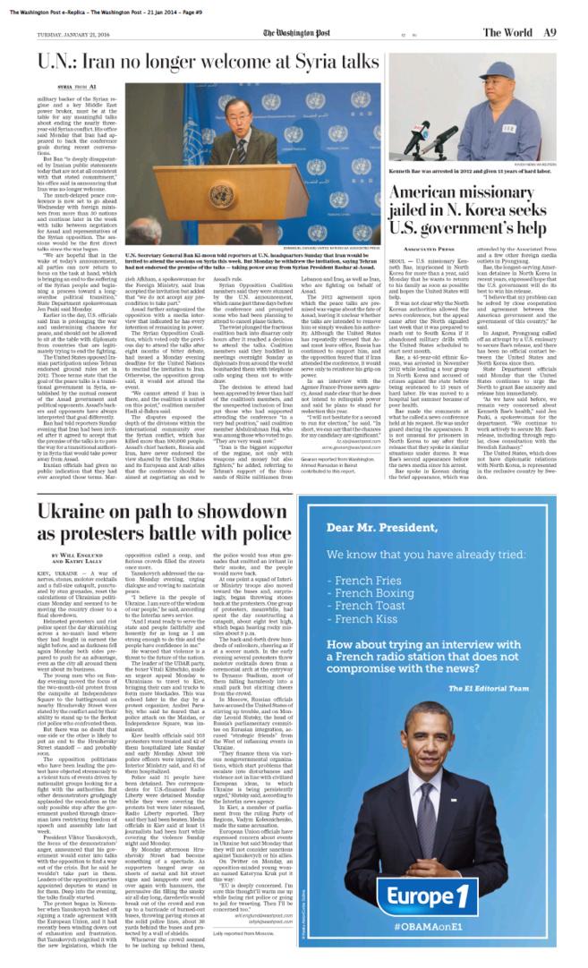 Europe 1 dans le Washington Post