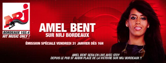 Amel Bent sur NRJ Bordeaux