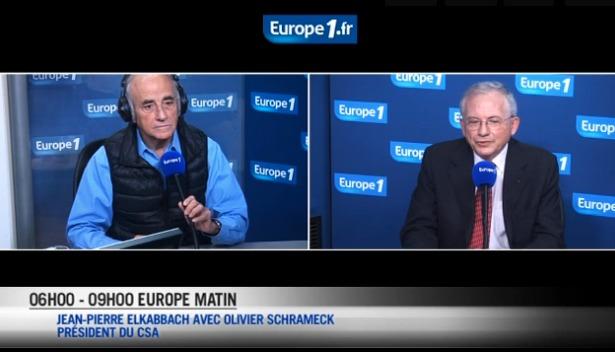 Olivier Schrameck sur Europe 1