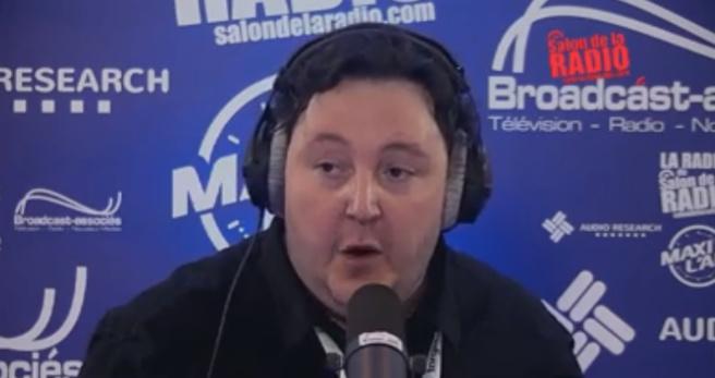 Michael Pachen, il y a quelques semaines, aux commandes de La Radio du Salon de la Radio