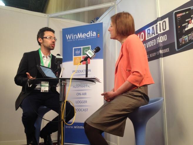Olivier Oddou avec Helen Boaden, directrice radio de la BBC