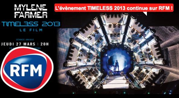 """RFM s'associe à """"Timeless 2013 Le Film"""""""