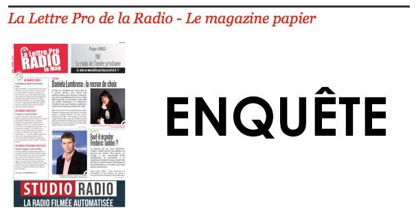 Enquête sur La Lettre Pro de la Radio et ses supports