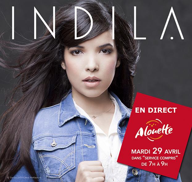 Alouette reçoit la chanteuse Indila