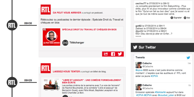 Le 7 octobre dernier, RTL a lancé la 1ère expérience radio second écran en France et propose une nouvelle façon d'interagir avec le flux live – audio et vidéo – de l'antenne