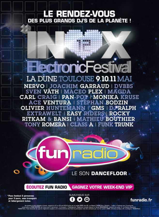 Fun Radio en direct de l'INOX Festival