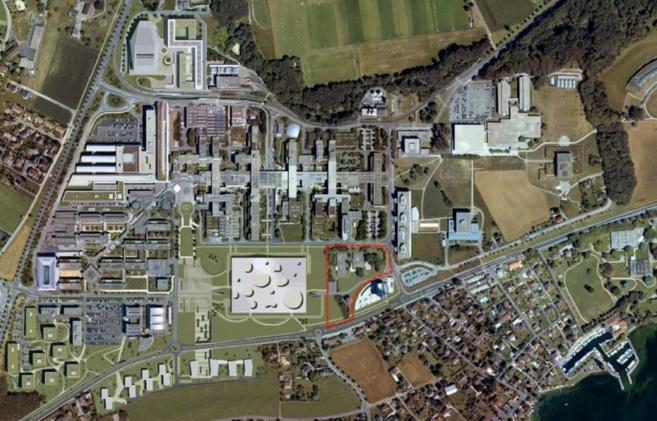 l'implantation choisie pour le futur bâtiment de la RTS © EPFL / DII