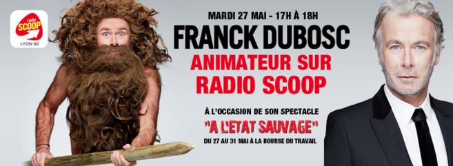 Franck Dubosc animateur sur Radio Scoop