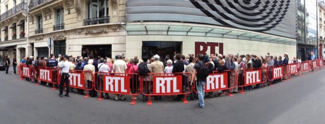 Plusieurs dizaines d'auditeurs devant RTL