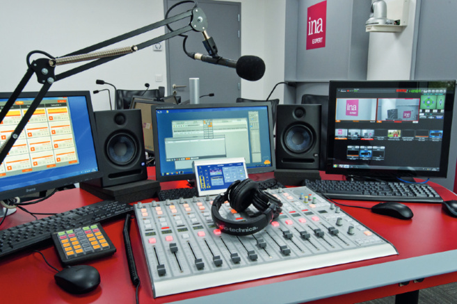 Le studio radio de l'INA Expert à Bry-sur-Marne © Didier Allard - Ina