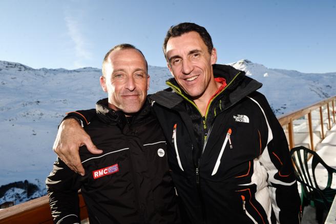 Luc Leblanc et Thierry Bourguignon il y a quelques mois  au RMC Sports Games aux Ménuires © Visual Presse Agency