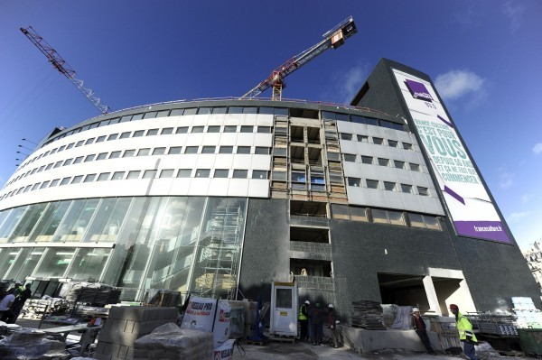 La Maison de la Radio en chantier et pas qu'à l'extérieur... © Christophe Abramowitz Radio France