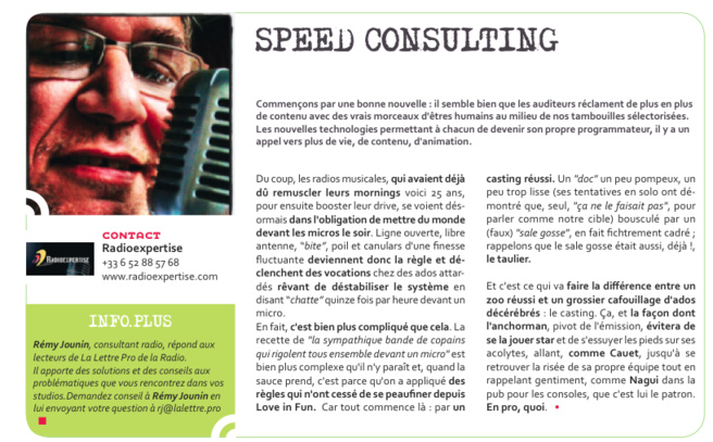 Flashback en 2013 - Speed Consulting de Rémi Jounin