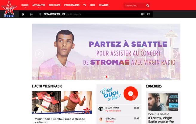 """Le nouvau site de Virgin Radio : """"plus puissant, plus rapide (...) avec encore plus de sons, d'images, de vidéos, de news, une actu pop-rock-électro"""""""