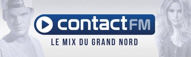 Nouvelle identité visuelle pour la station qui reprend son nom emblématique de Contact FM avec un logo bleu et épuré