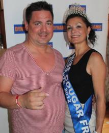 Frédéric aux côtés de Nicole, Miss Cougar 2012
