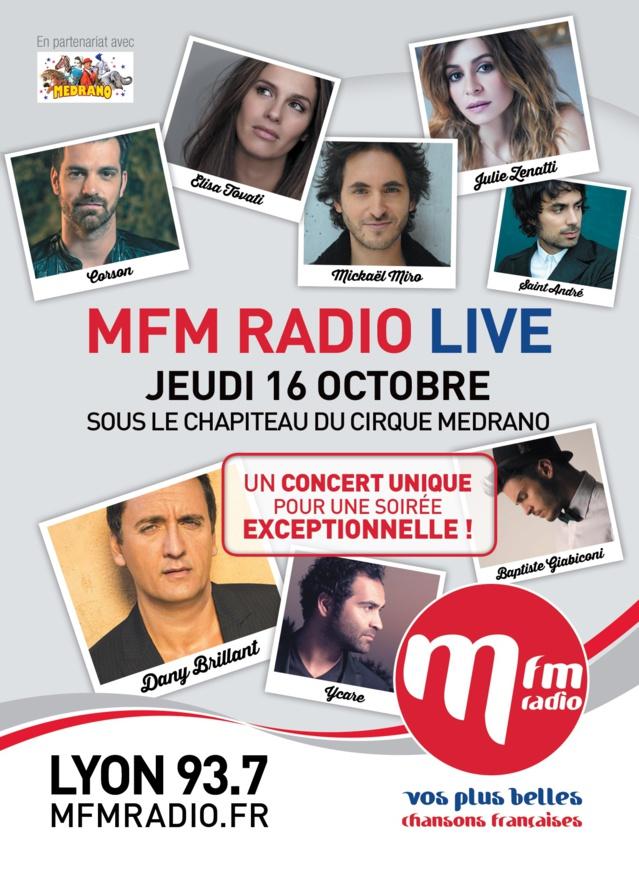 MFM Radio Live à Lyon le 16 octobre