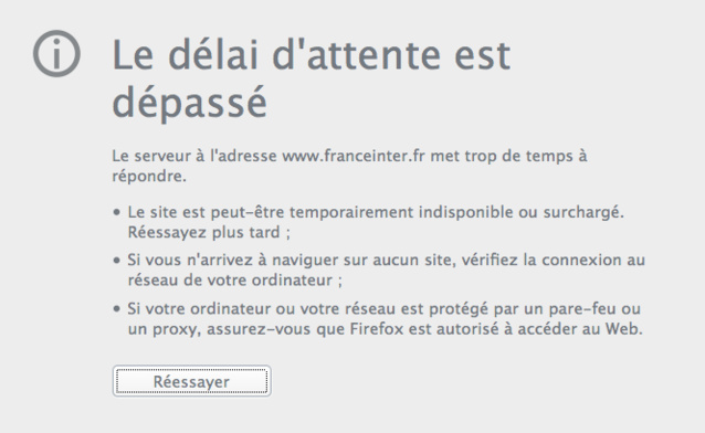 Les sites de France Inter et de France Info piratés