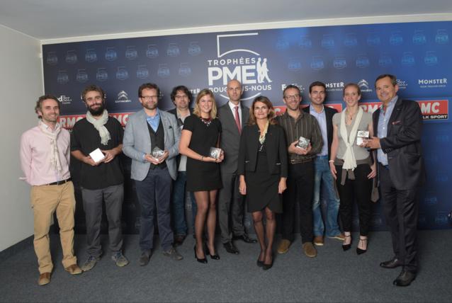 Les lauréats de la 5ème édition des Trophées RMC PME Bougeons-Nous 2014