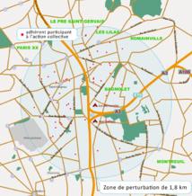 La carte de la zone des Sans Radio. On y voit aussi où sont situés les plaignants de l'action collective.
