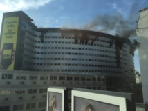Le spectaculaire incendie à Radio France la semaine dernière © © Serge Surpin pour La Lettre Pro de la Radio