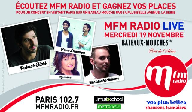 MFM Radio Live à Paris ce 19 novembre