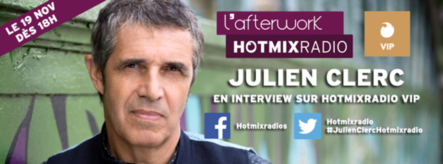 Julien Clerc invité sur Hotmix Radio
