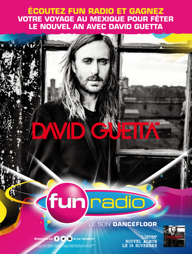 Fun Radio part en campagne avec David Guetta