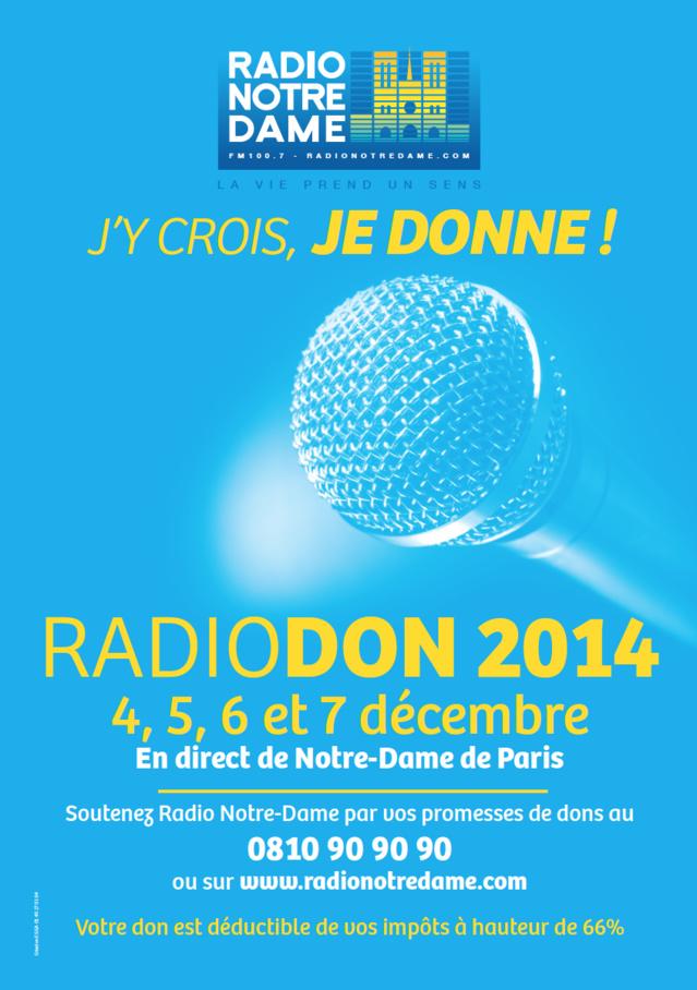 Nouveau Radio Don pour Radio Notre Dame