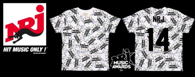 Des T-shirts aux couleurs des NRJ Music Awards