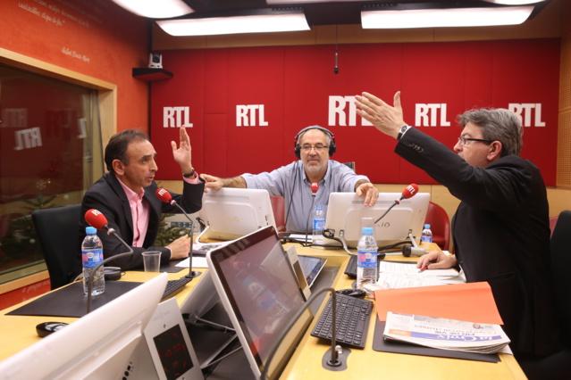 Zemmour et Mélenchon sur RTL © Frédéric Bukajlo / Abaca Press