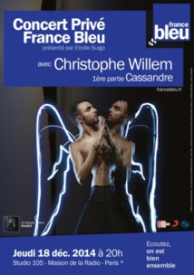 France Bleu : Christophe Willem en concert privé