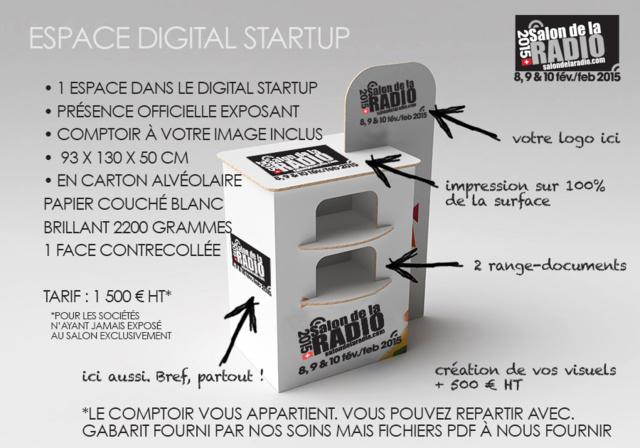 L'espace Digital Startup du Salon de la Radio
