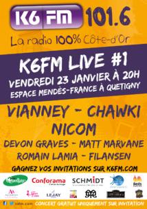 Première édition du K6FM Live