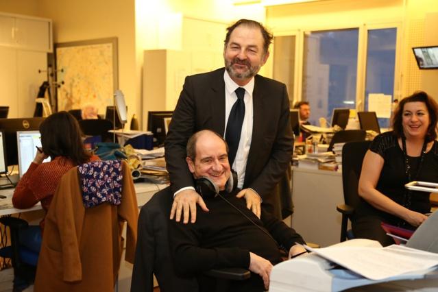 Denis Olivennes et Pierre Lescure © Wladimir Simic - Capa Pictures Europe 1