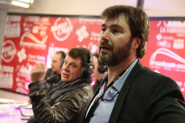 De nombreuses personnalités dans les allées du Salon : Bruno Roblès (RFM), Laurent cabrol (Europe 1), Malher (Radio Monaco) ou encore Eric Jean-Jean (RTL) © Serge Surpin