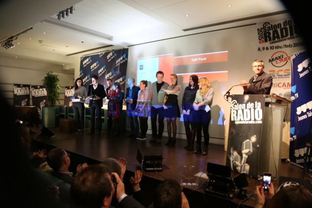 Encore des gagnants : les Jeunes Talents de la Radio et de la Télévision avec Rémi Castillo, Claude Esclatine, Isabelle Morini-Bosc, Jean-Luc Reichmann... © Serge Surpin