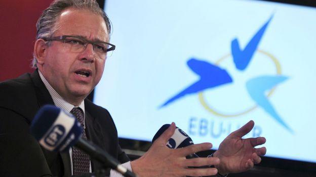 Jean-Paul Philippot président de l'UER © Louisa Gouliamaki - Belgaimage