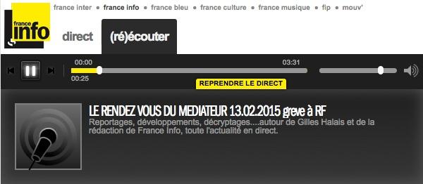Cliquez sur le Player pour écouter les explications du Médiateur de Radio France