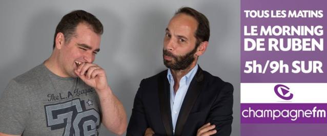 Ruben (à gauche) et Manu (à droite) sont tous les matins sur Champagne FM
