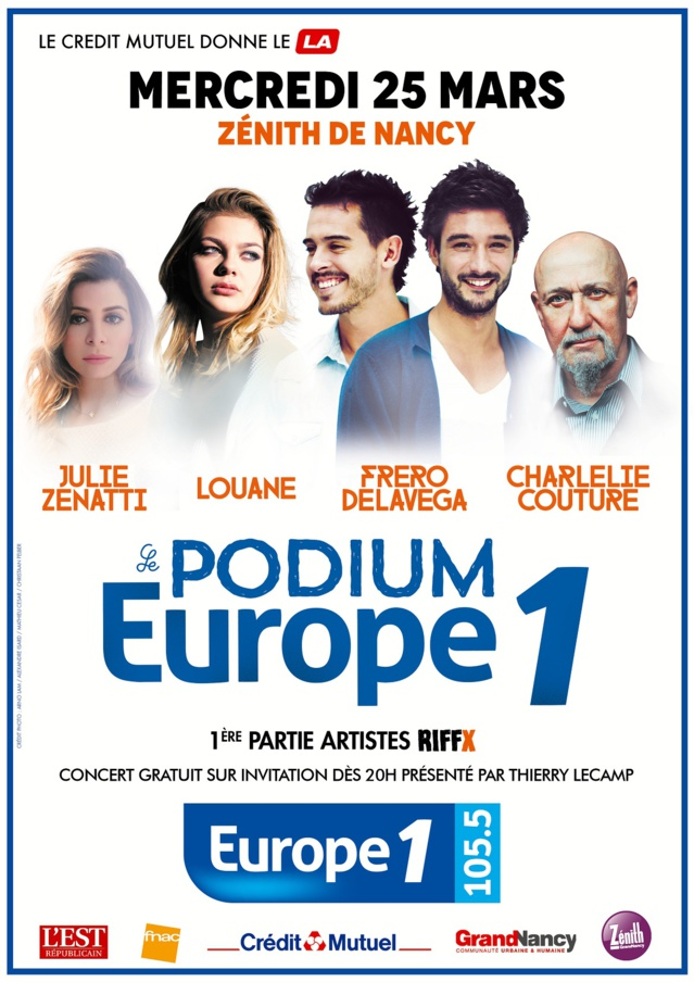 Un Podium Europe 1 à Nancy