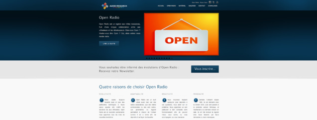 Nouveau site web pour Open Radio