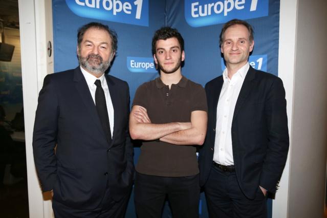 Théo Maneval lauréat de la bourse Lauga 2015 avec Denis Olivennes et Fabien Namias