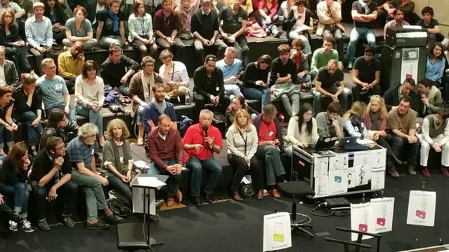 Enième assemblée des grévistes cet après-midi à Radio France © CFDT Radio France sur Twitter