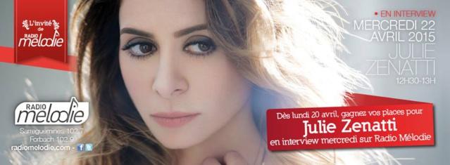 Julie Zenatti sur Radio Mélodie