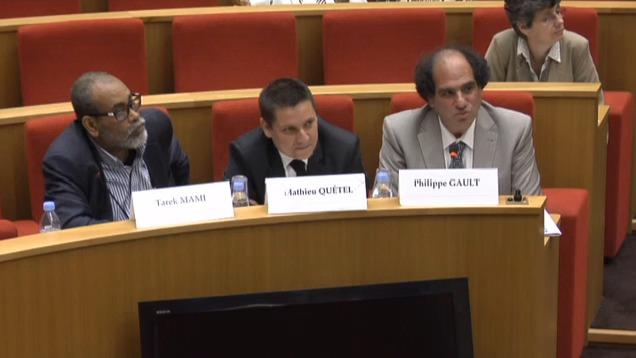 Tarek Mami, Mathieu Quétel et Philippe Gault du SIRTI © Sénat