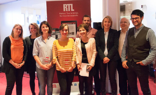 L'équipe du #RTL Challenge Journalisme Numérique © Paul Guyonnet