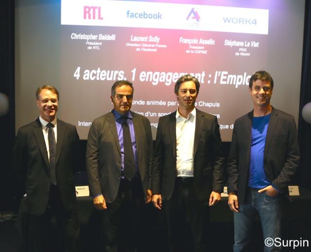 """""""Avec plus d'emplois proposés, RTL prouve ainsi qu'une radio commerciale privée peut aussi affirmer son rôle citoyen"""" a déclaré Christopher Baldelli ©Serge Surpin"""