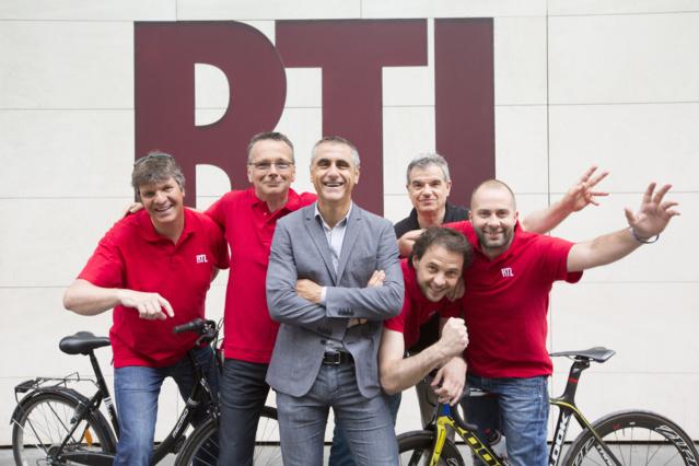 L'équipe de RTL mobilisée pour le Tour de France © Romain Boé - Abacapress