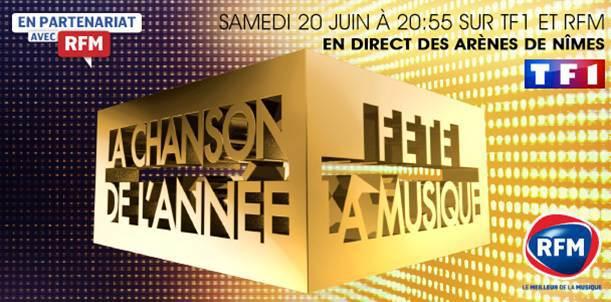 """RFM partenaire de """"La Chanson de l'année fête la musique"""" sur TF1"""